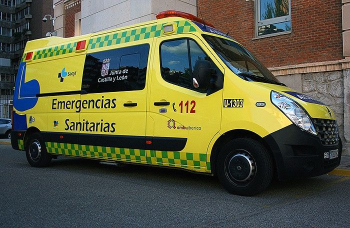 Un joven motorista, herido en un accidente en Fuenterroble de Salvatierra