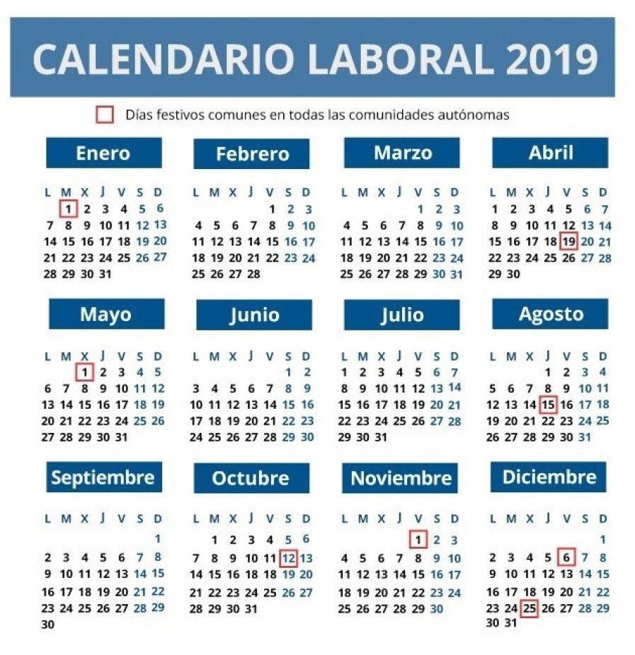 Calendario Laboral 2019 Andalucia.El Calendario Laboral De Este Ano Cuenta Con 12 Dias Festivos Solo