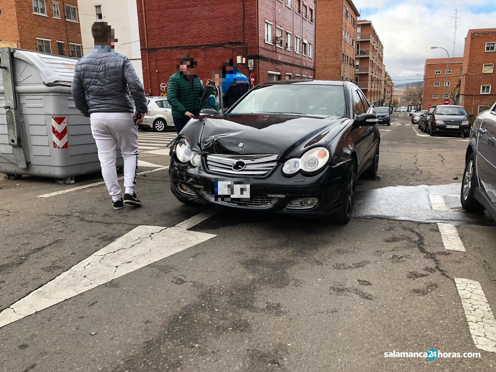 Accidente en la calle La Alberca