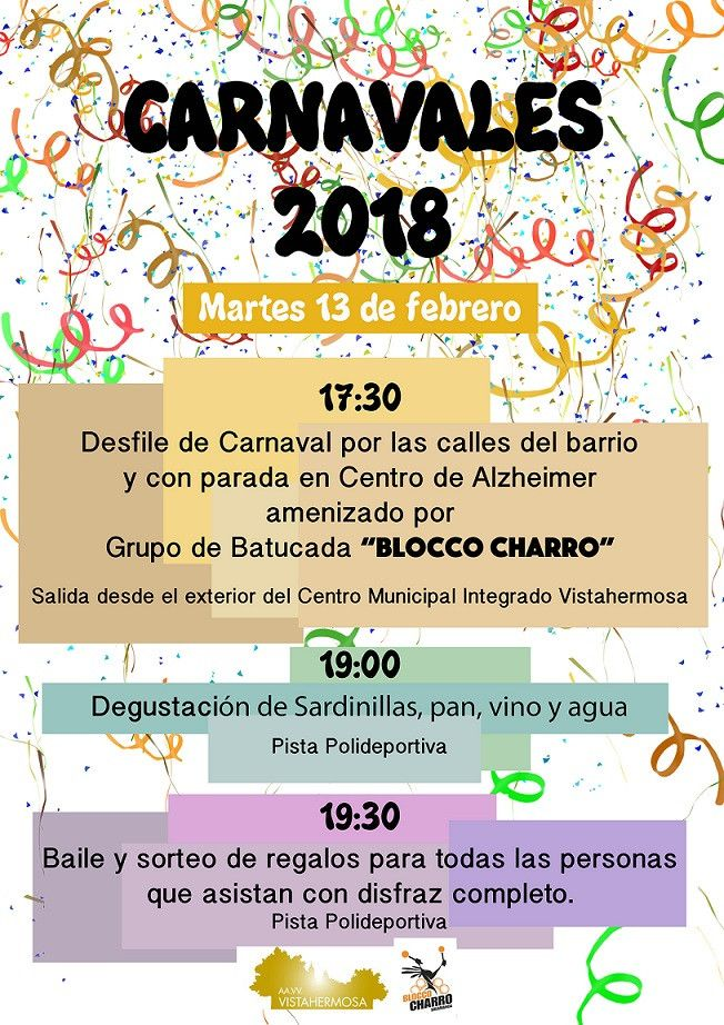 Carnavales Vistahermosa 2018 rrss