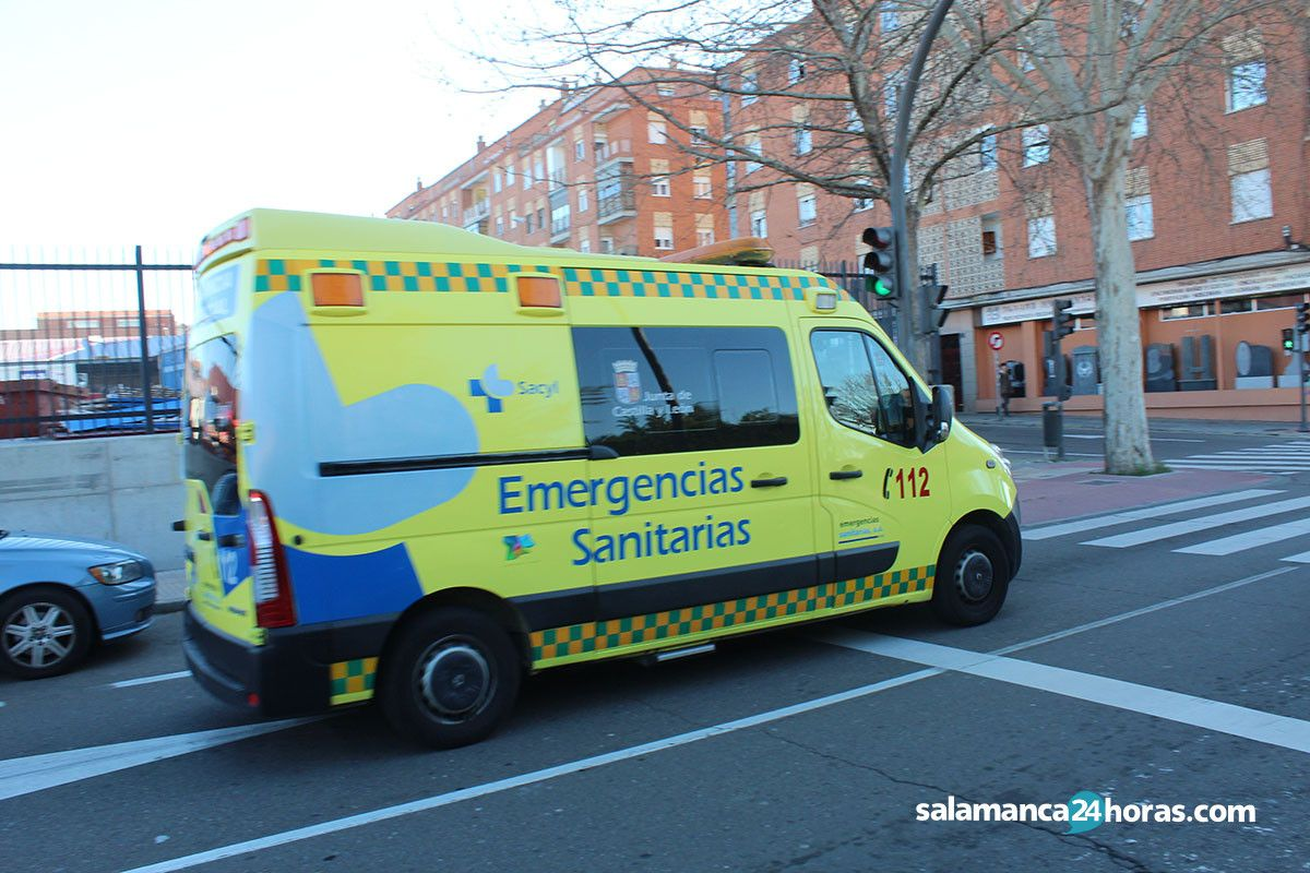 Cuatro heridos leves en dos accidentes registrados en Salamanca en 20 minutos