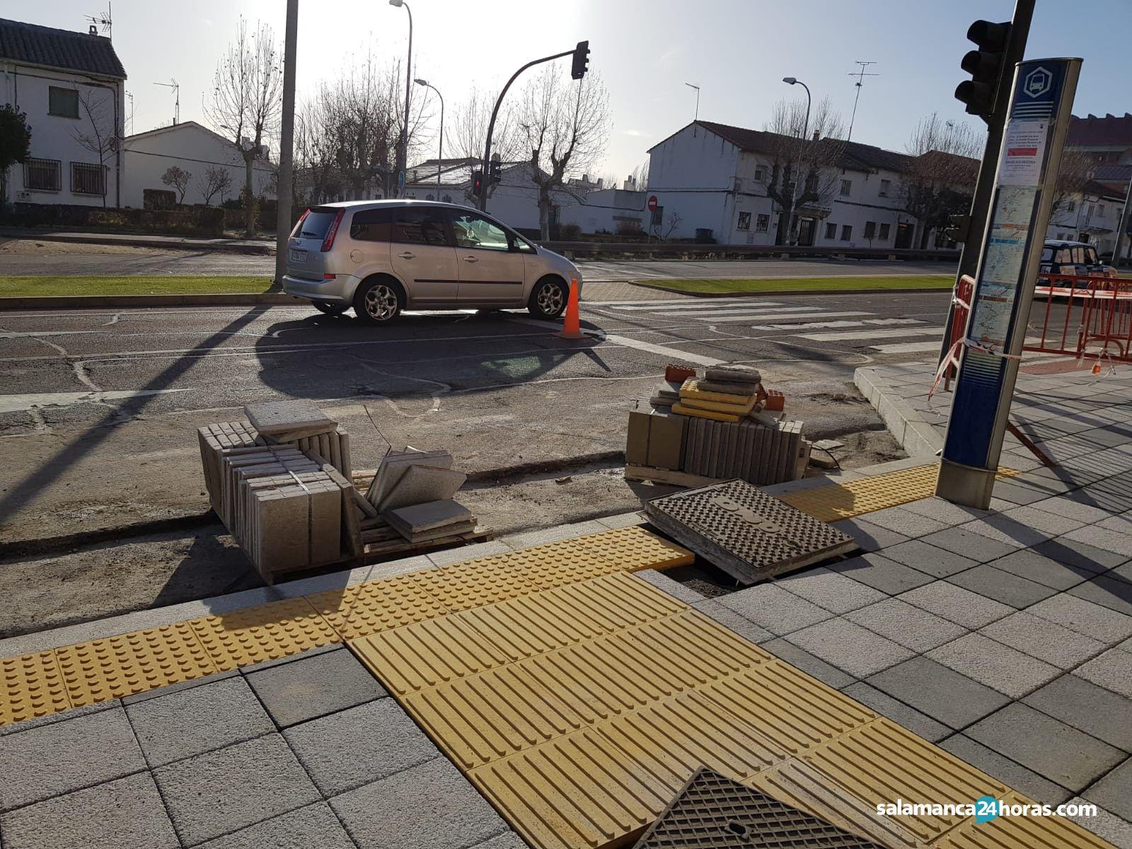Cortes de tráfico acera obras sur carretera de béjar saavedra y fajardo (13)