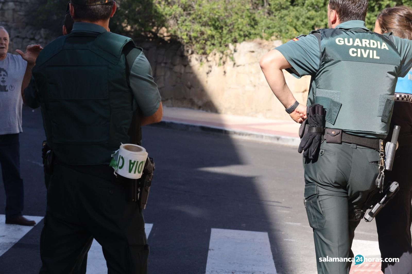 Movilización de la Guardia Civil por una trifulca con amenazas graves en Villamayor