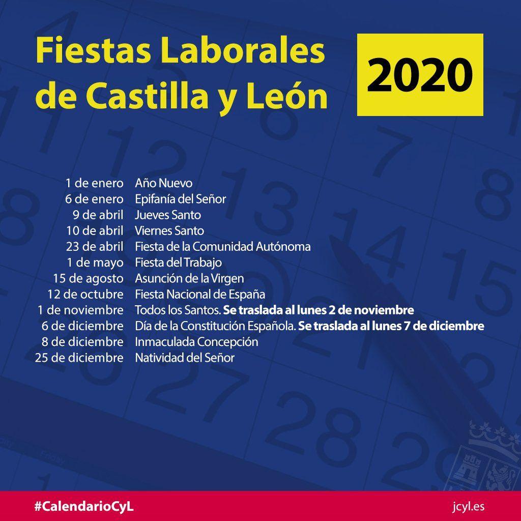 Calendario Agosto 2020 Espana.Aprobado El Calendario De Fiestas Laborales En Castilla Y