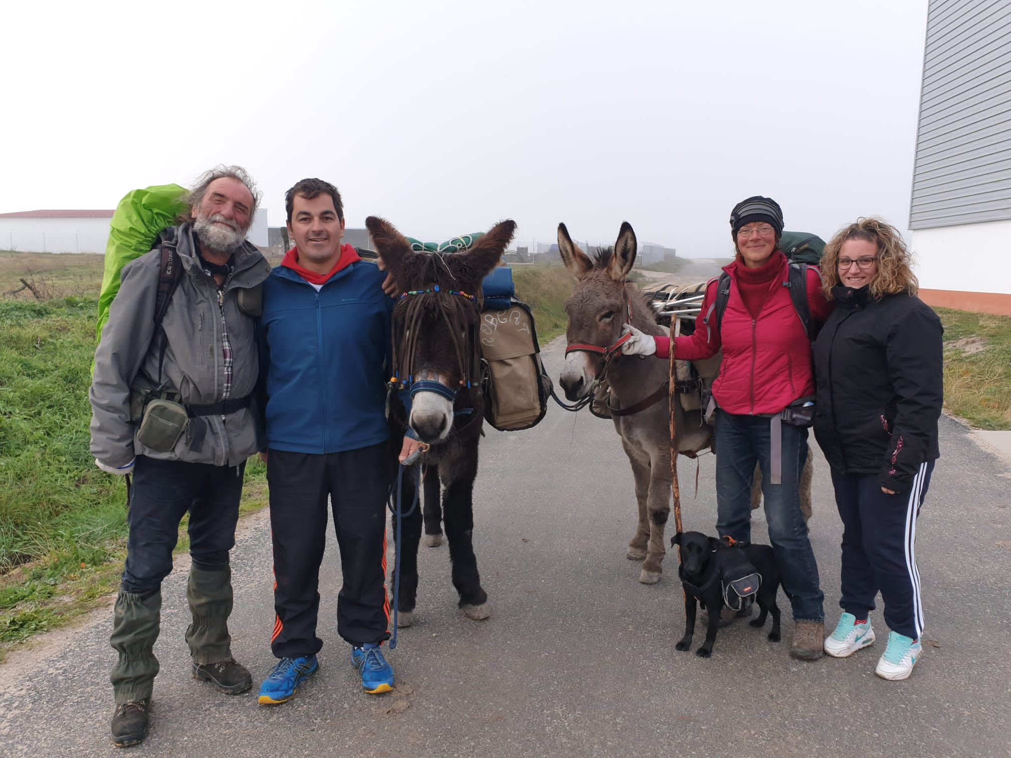 Santiago de la Puebla se vuelca con una pareja de franceses que recorre España en burro - Salamanca 24 Horas