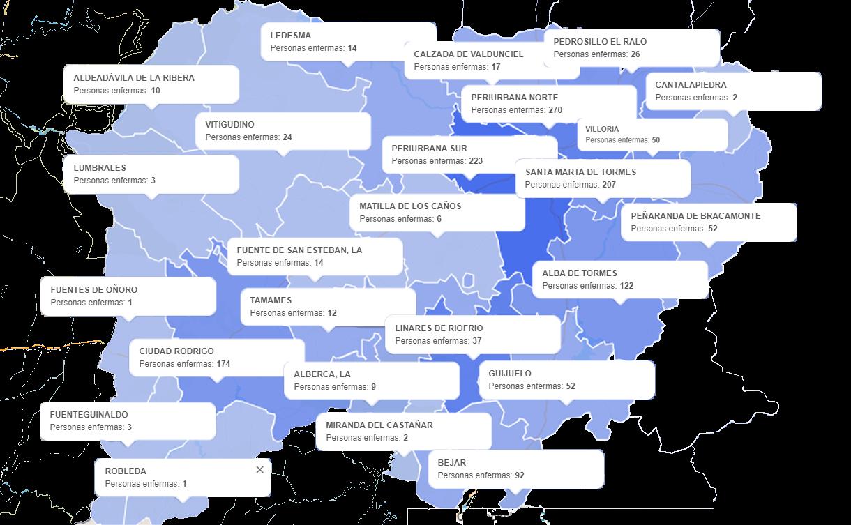 Mapa salamanca corona