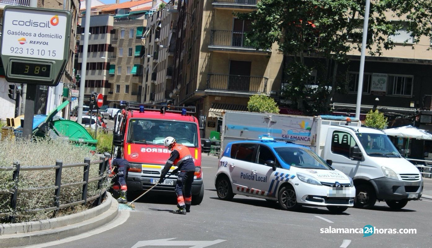 Accidente en la Glorieta de la UDS