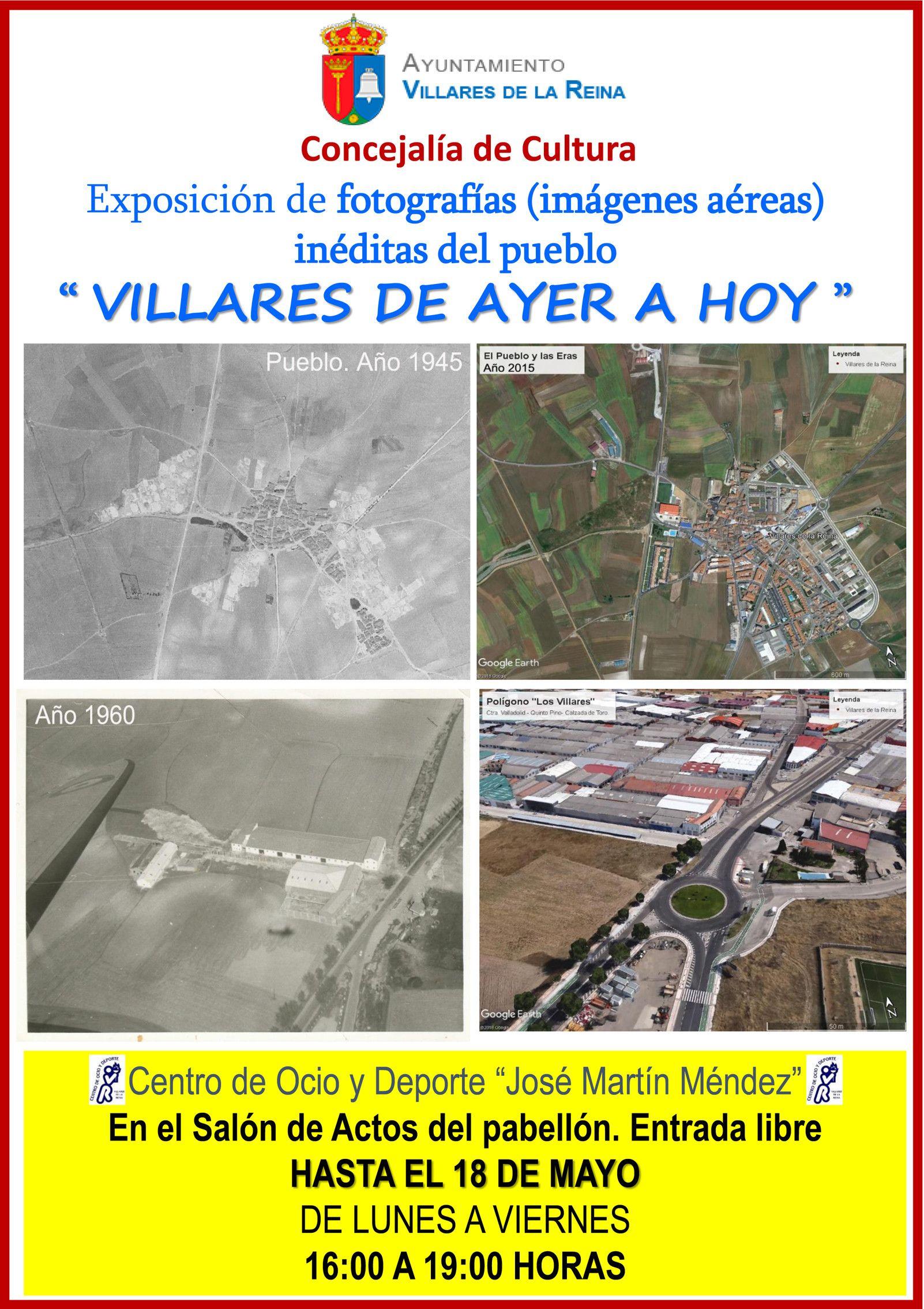 Cartel Expo. Villares de Ayer a Hoy 25abril 18Mayo