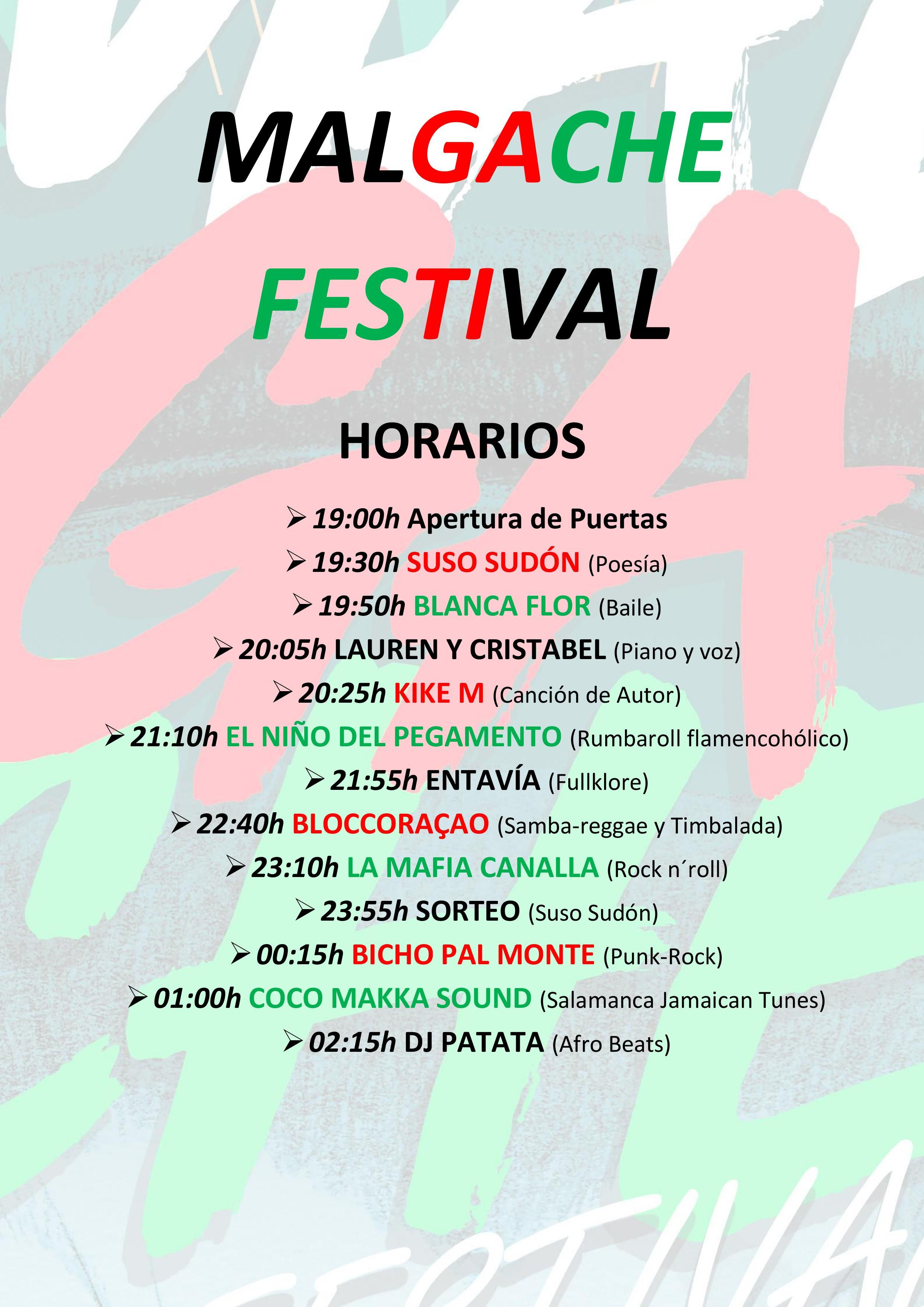 Horario Malgache Festival