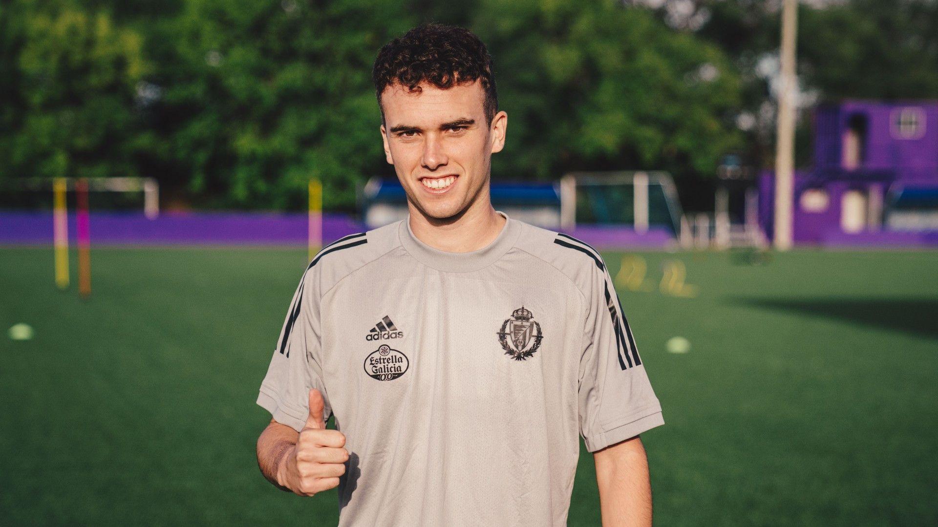 El salmantino Sergio López, convocado por el Real Valladolid para medirse al Real Madrid