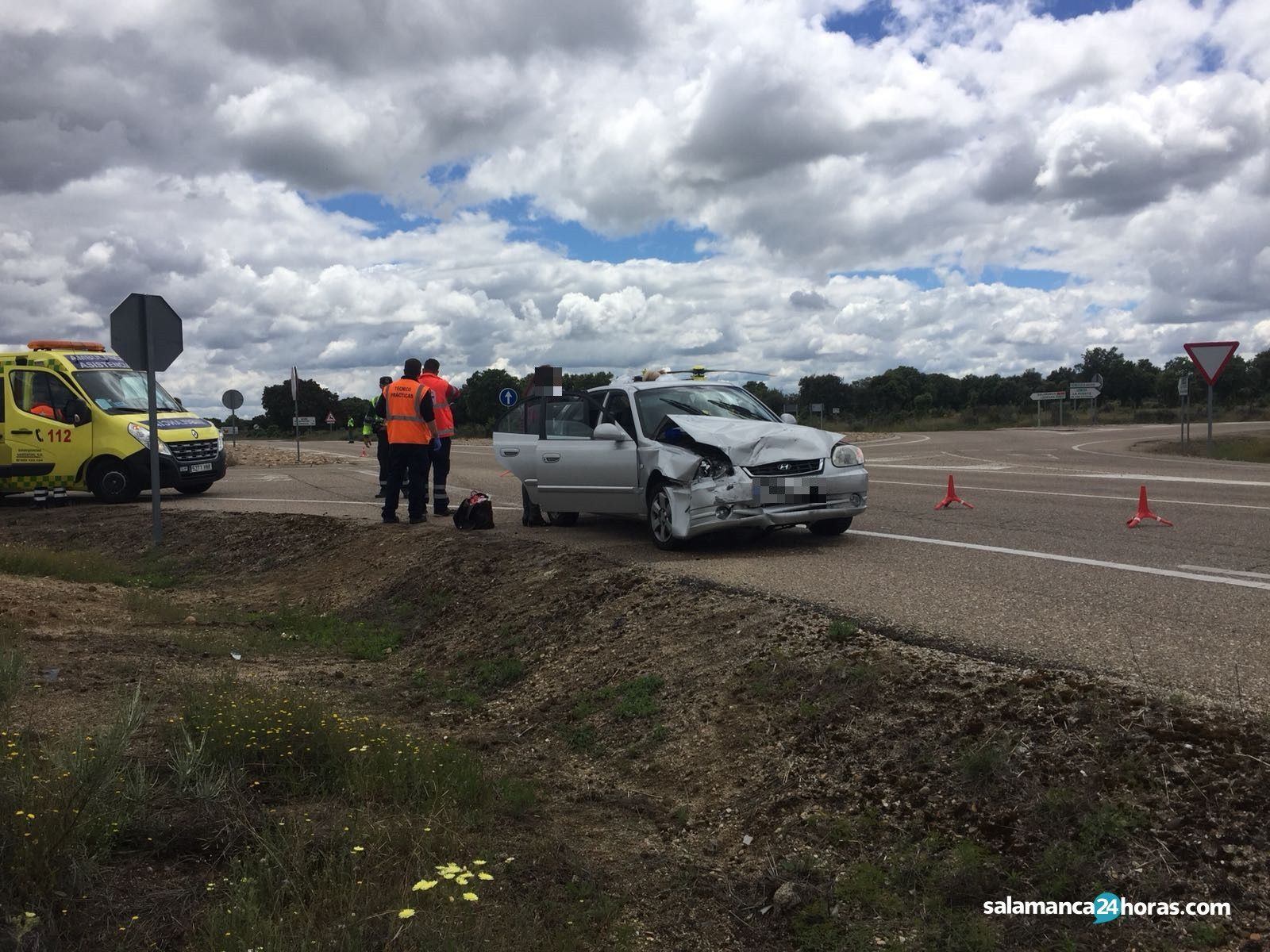 Accidente en la carretera de Vitigudino