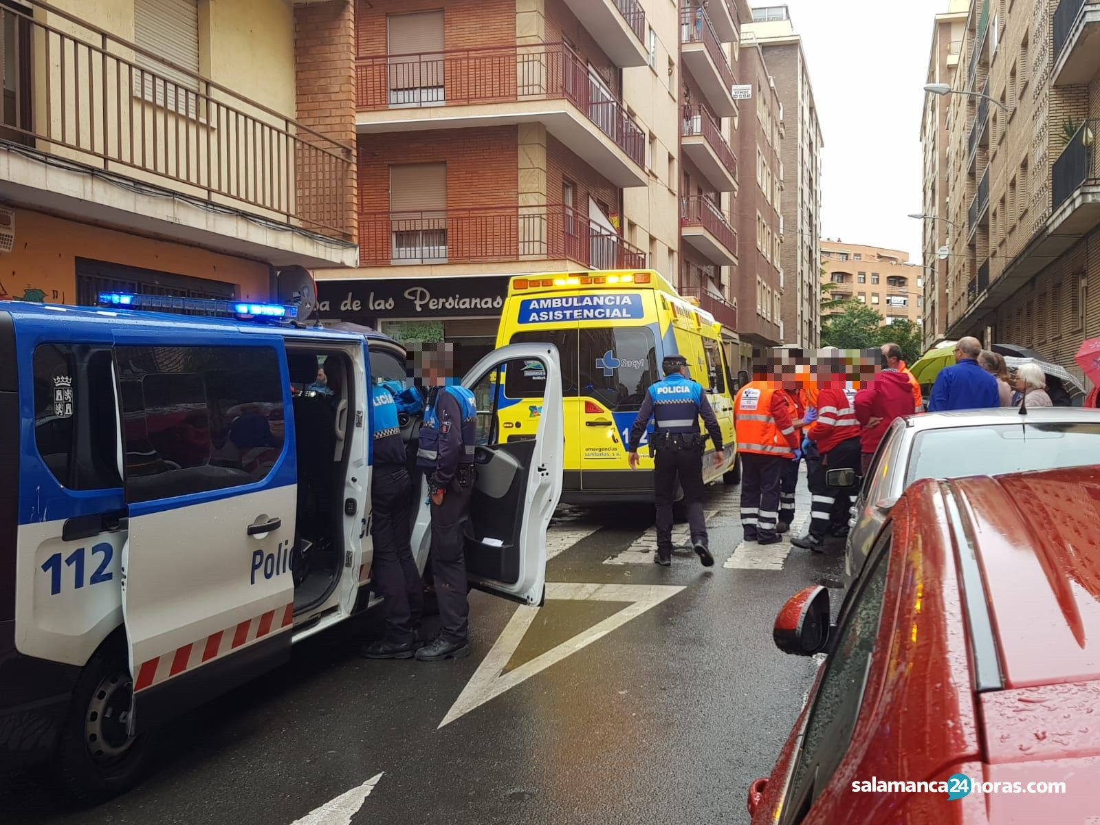Accidente en la calle Vitigudino