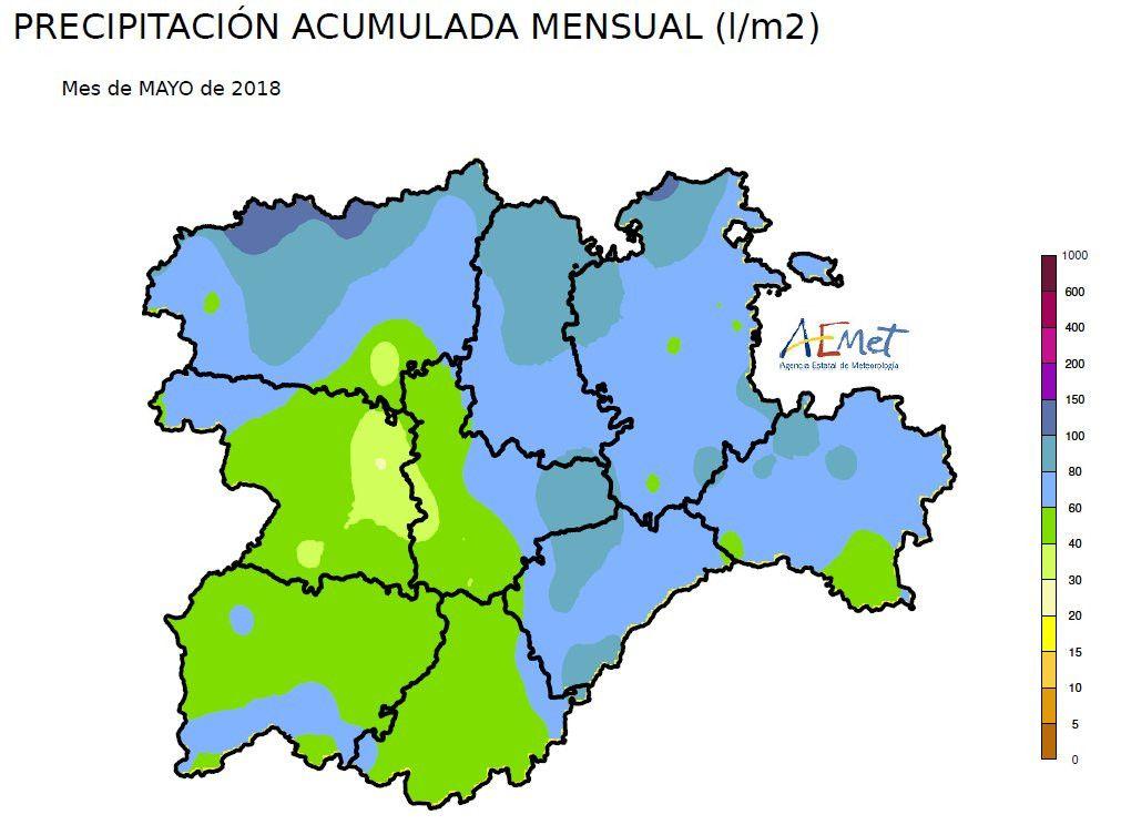 Mapa lluvia mayo