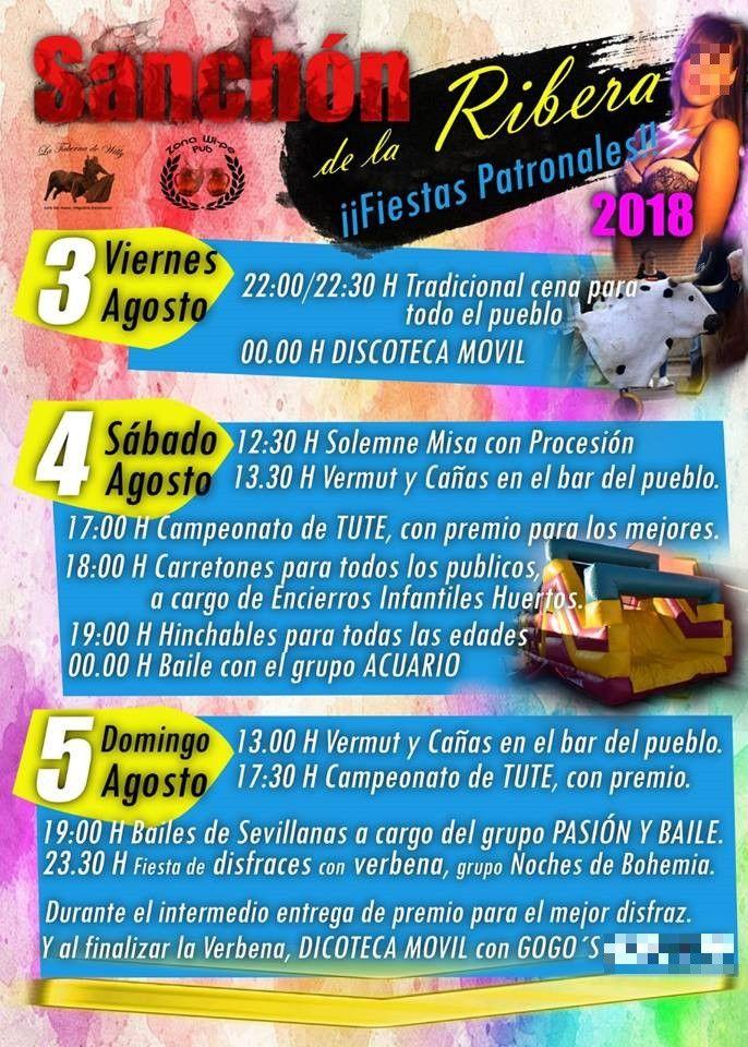 Sanchu00f3n de la Ribera programa fiestas 2