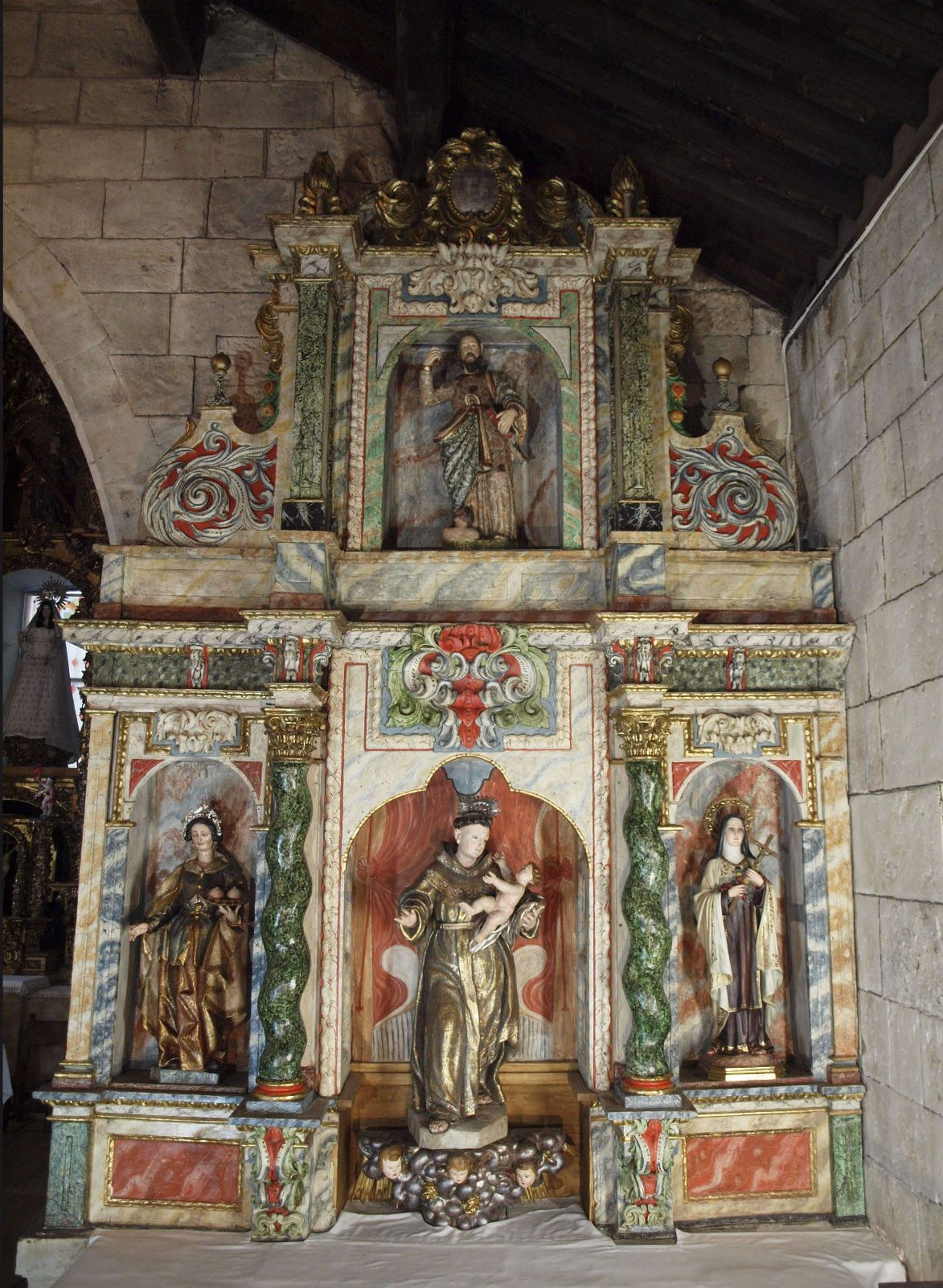 Retablo san atnonio de padua   iglesia calzada de valdunciel