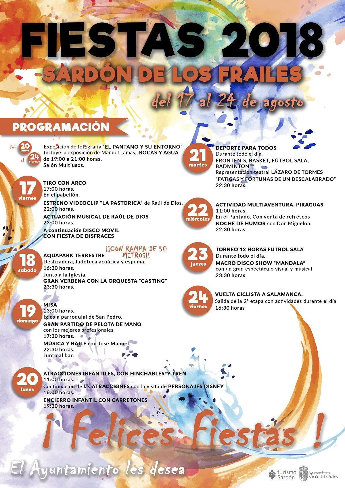 Fiestas Sardu00f3n de los Frailes programa