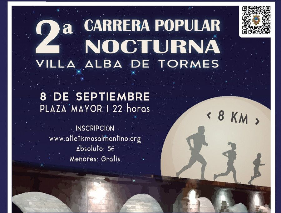 Cartel carrera nocturna alba de tormes