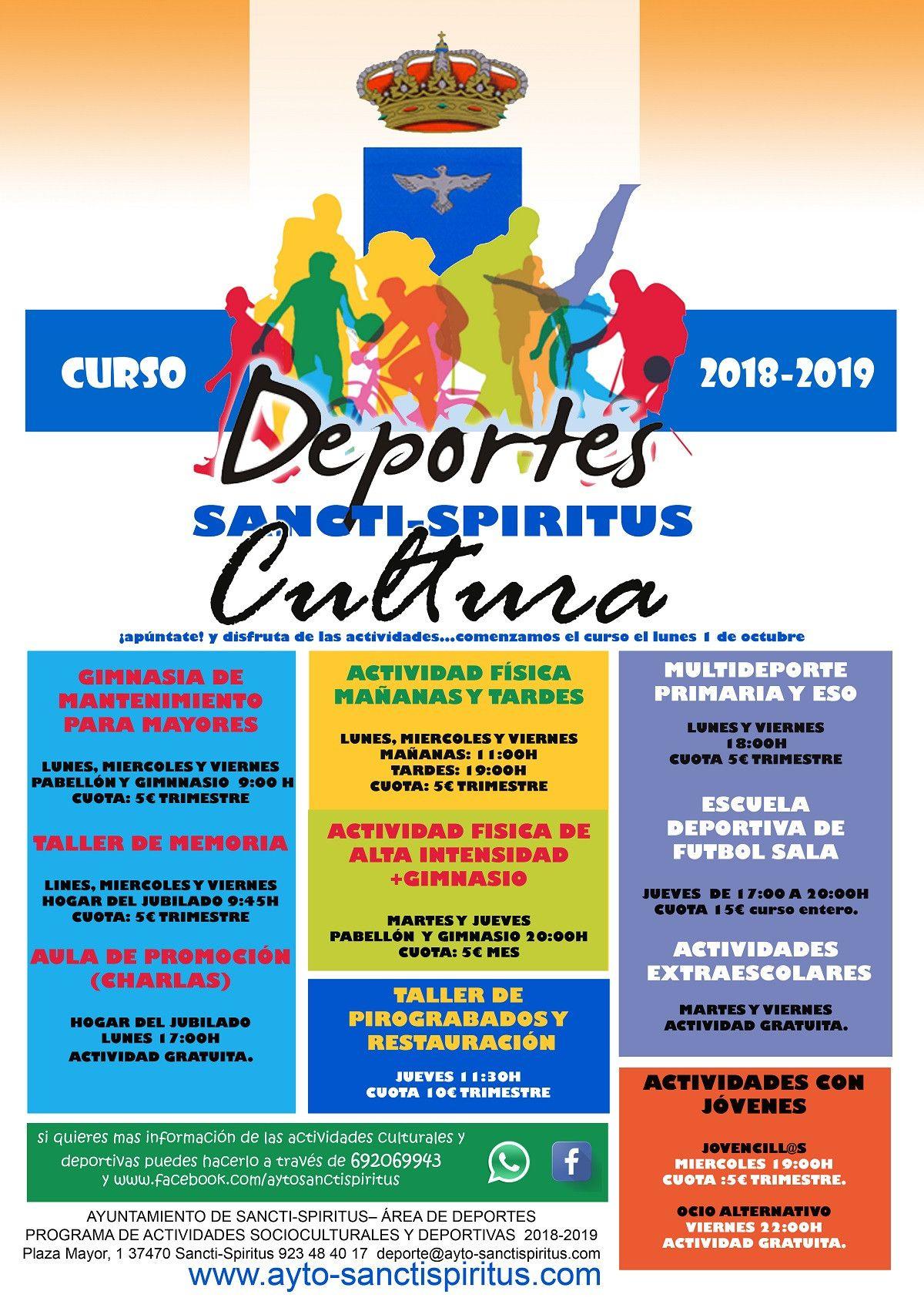 Sancti Cartel actividades deportivas