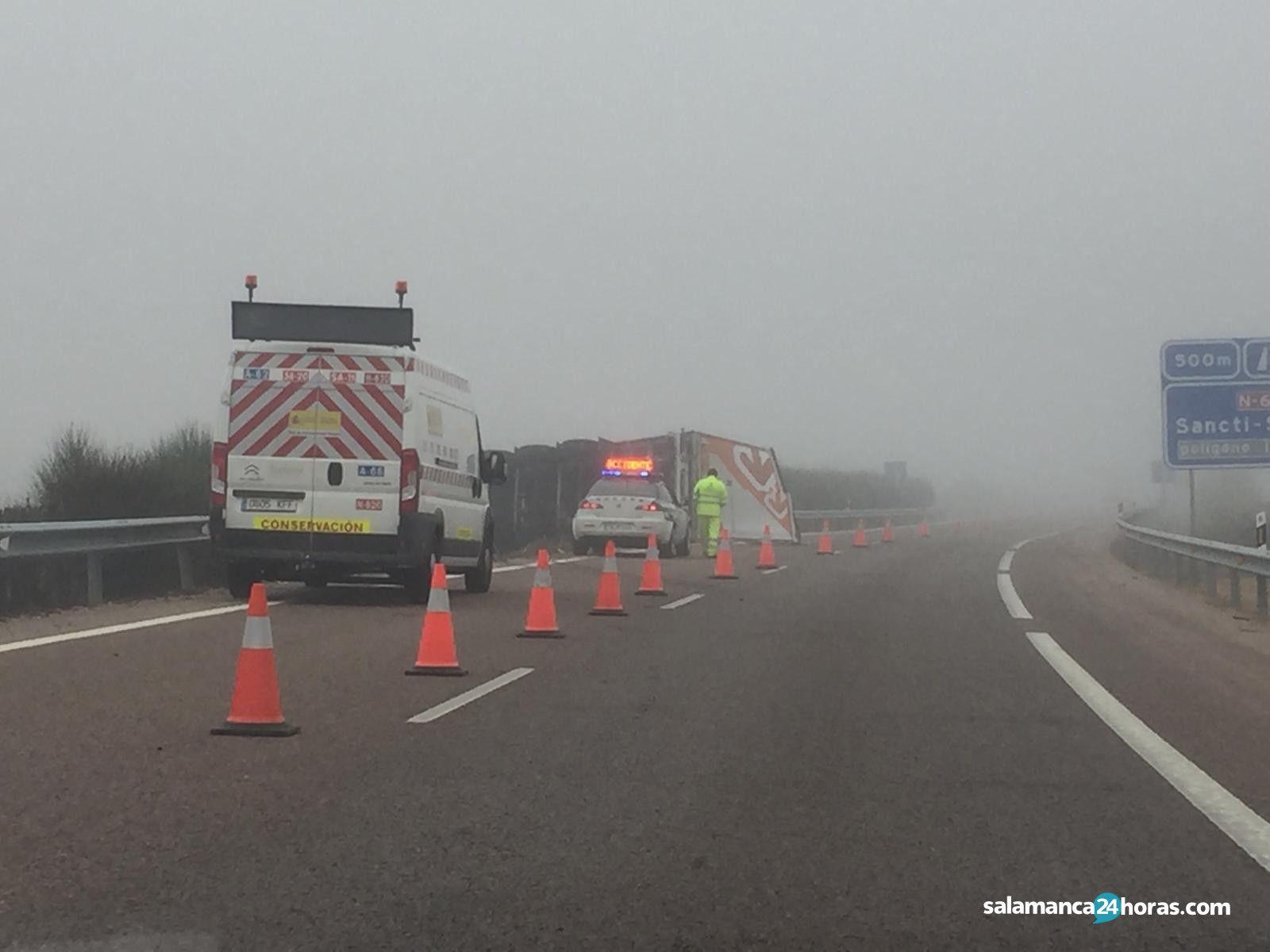 Accidente camión A 62 (2)