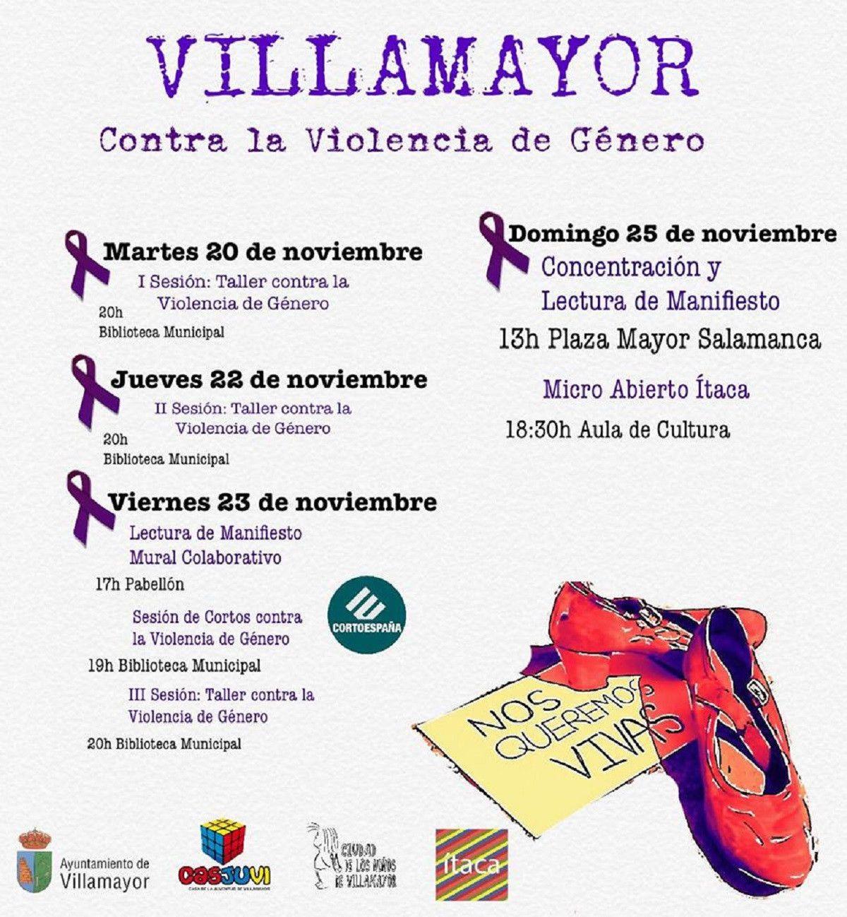 Cartel Villamayor Violencia de Genero