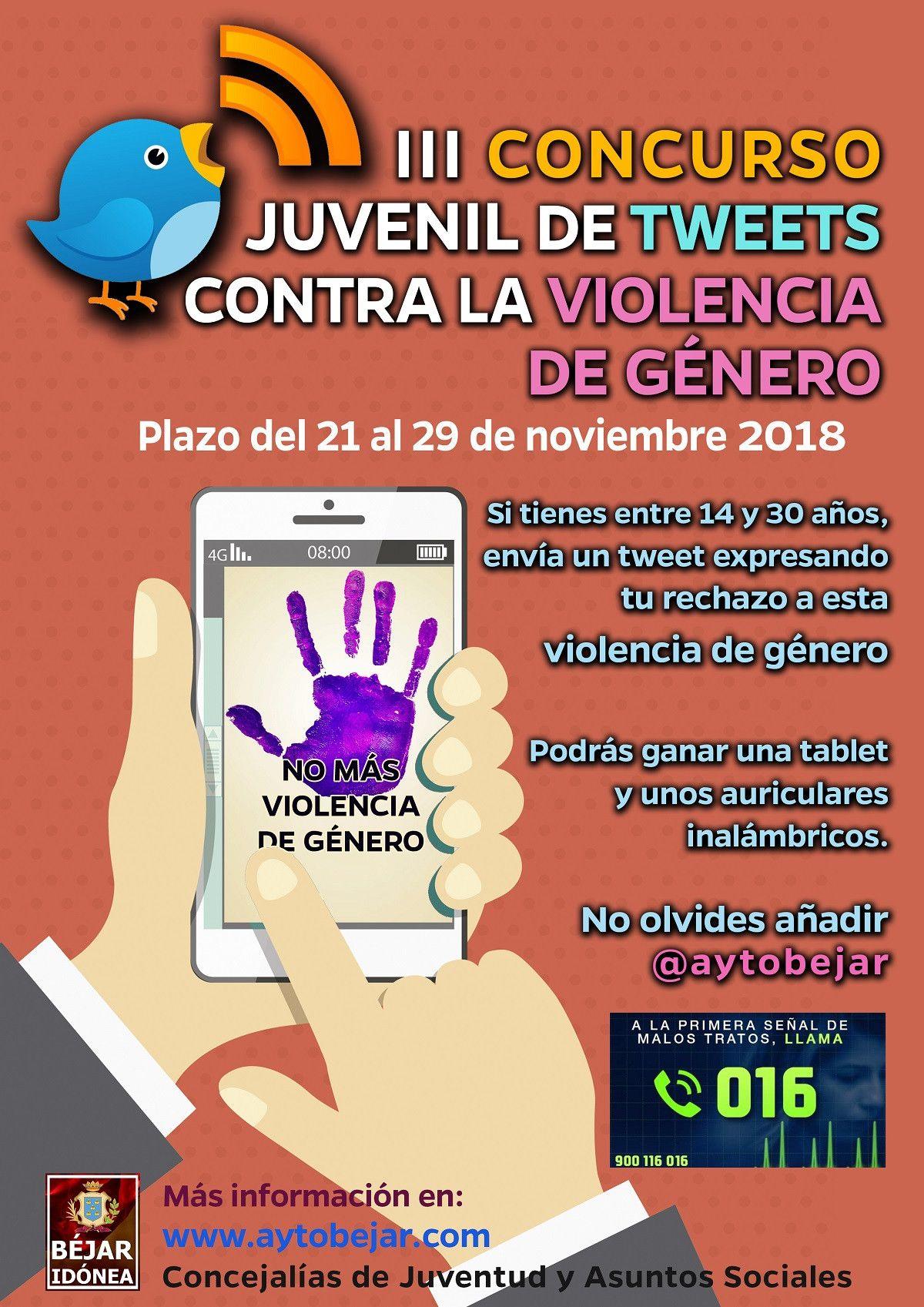 Cartel concuso tweet juventud violencia de gu00e9nero 2018 (1)