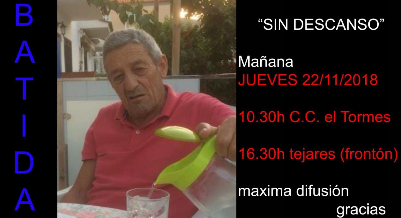 Batidas Jueves 22 de noviembre desaparecido Josu00e9 Antonio