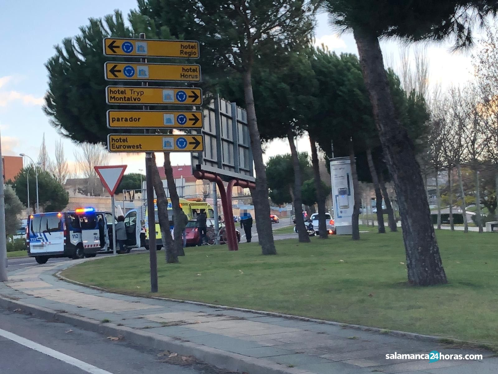 Accidente en Glorieta de Vettones y Vacceos 2