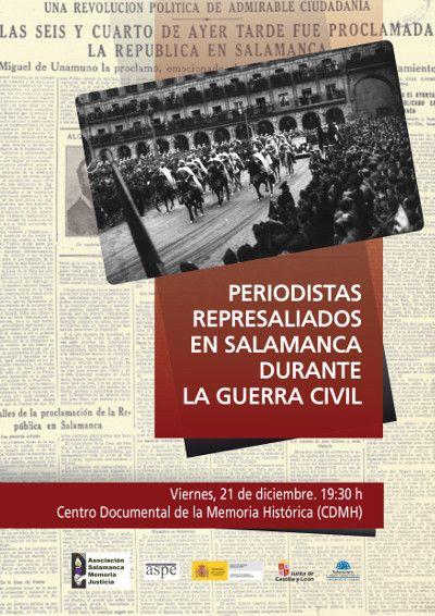 Cartel Homenaje Periodistas represaliados