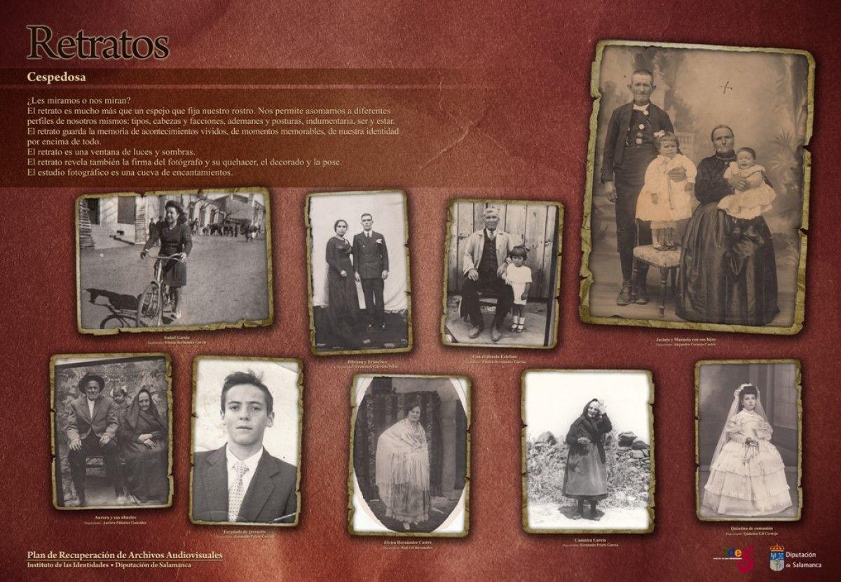 Retratos recogidos en Cespedosa de Tormes en 2018