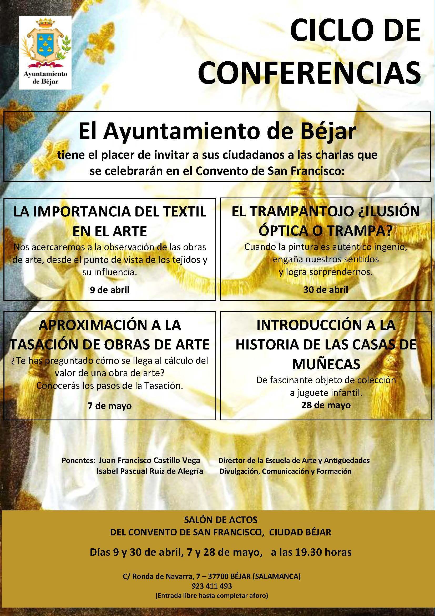 Cartel BEJAR CICLO CONFERENCIAS