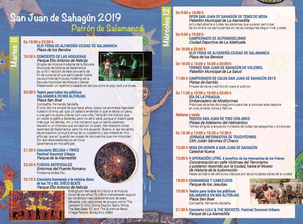 San Juan de Sahagu00fan programa