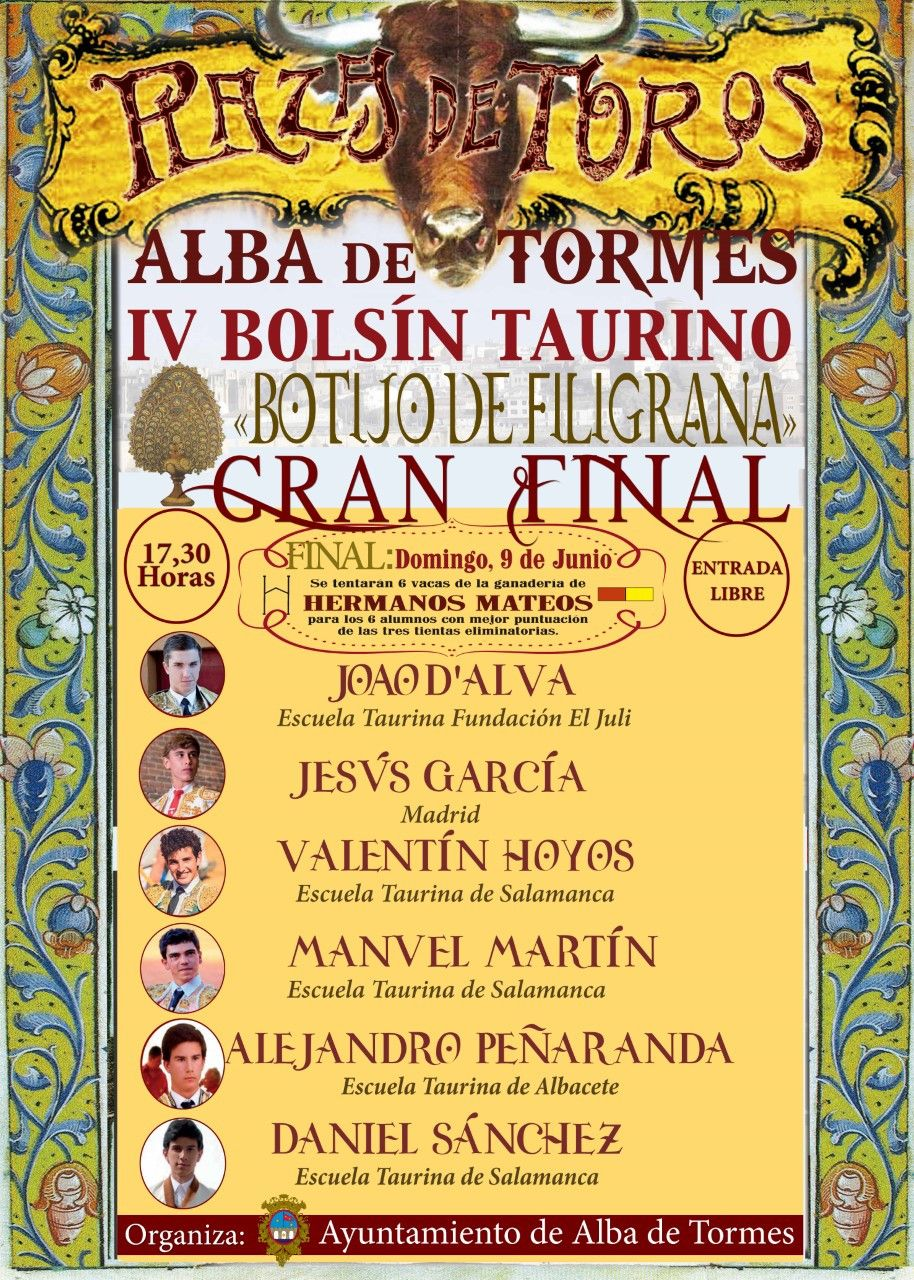 CARTEL FINAL IV BOLSu00cdN TAURINO ALBA DE TORMES