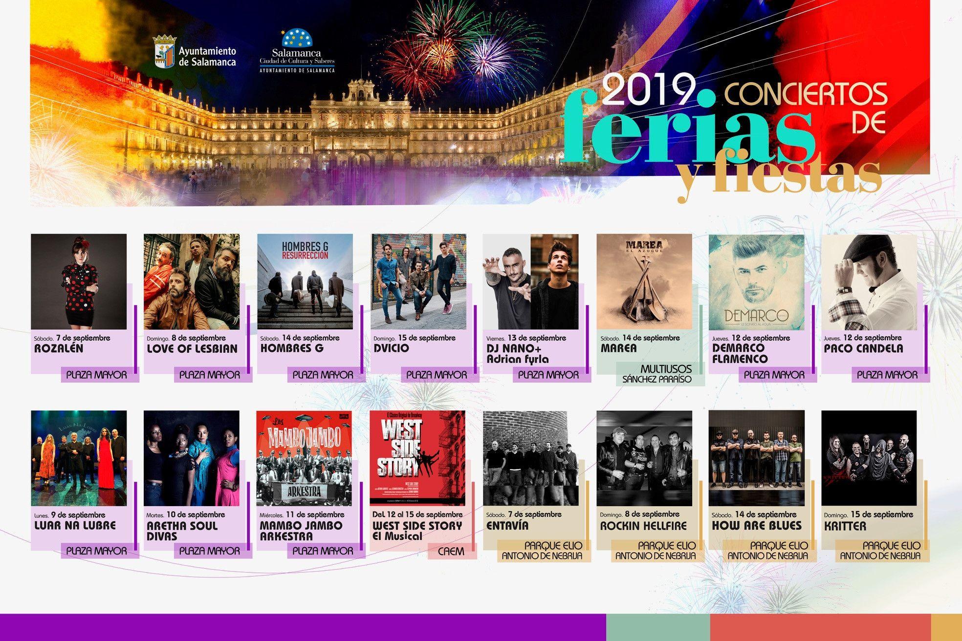 Conciertos Ferias y Fiestas 2019
