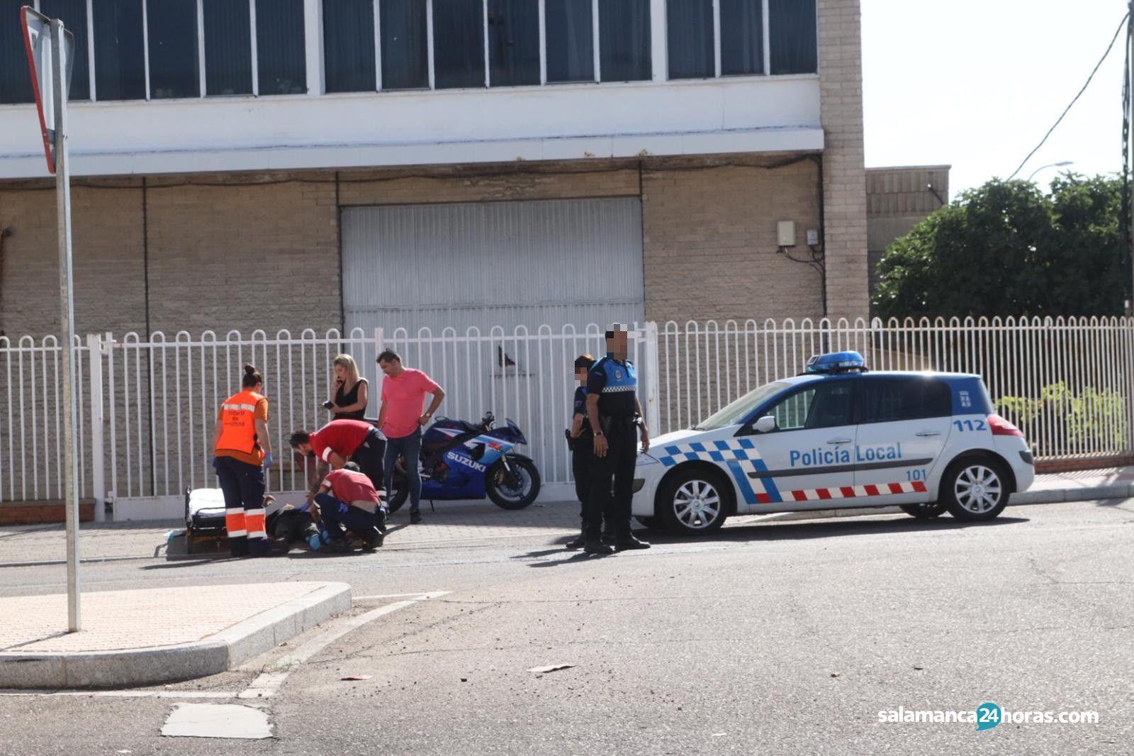 Accidente moto en el montalvo (2)
