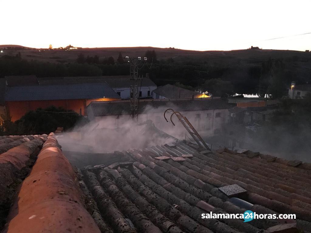 Incendio casco urbano Alba de tormes (2)