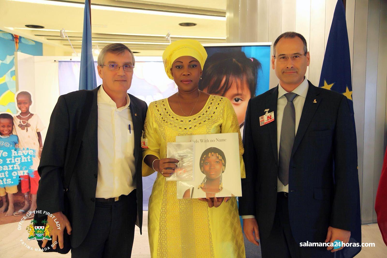 En Naciones Unidas (Ginebra) con la primera Dama de Sierra Leona