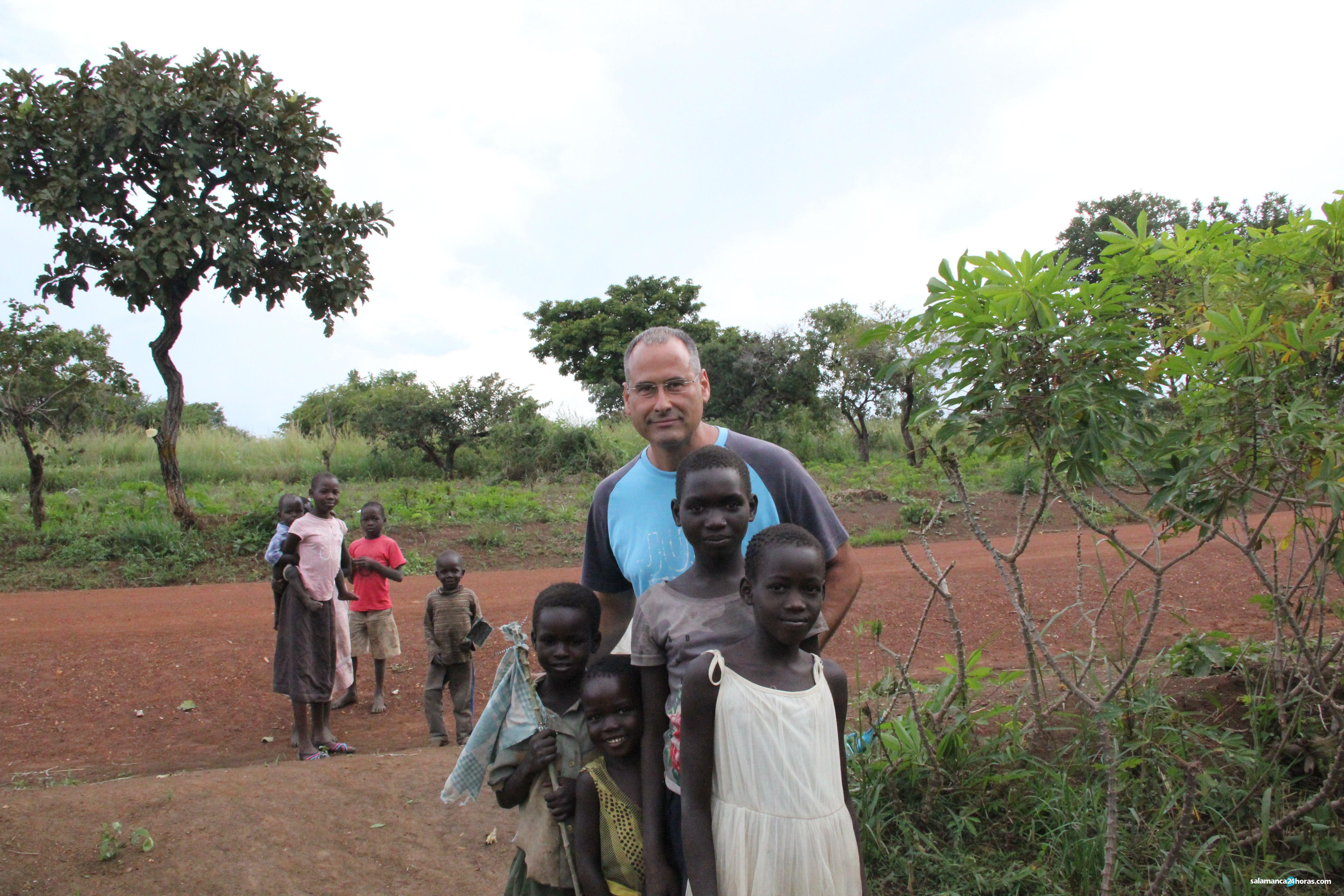 Con refugiados de Sudán del Sur