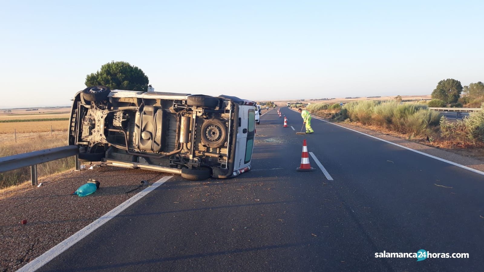 Accidente furgoneta Pajares A 62 2