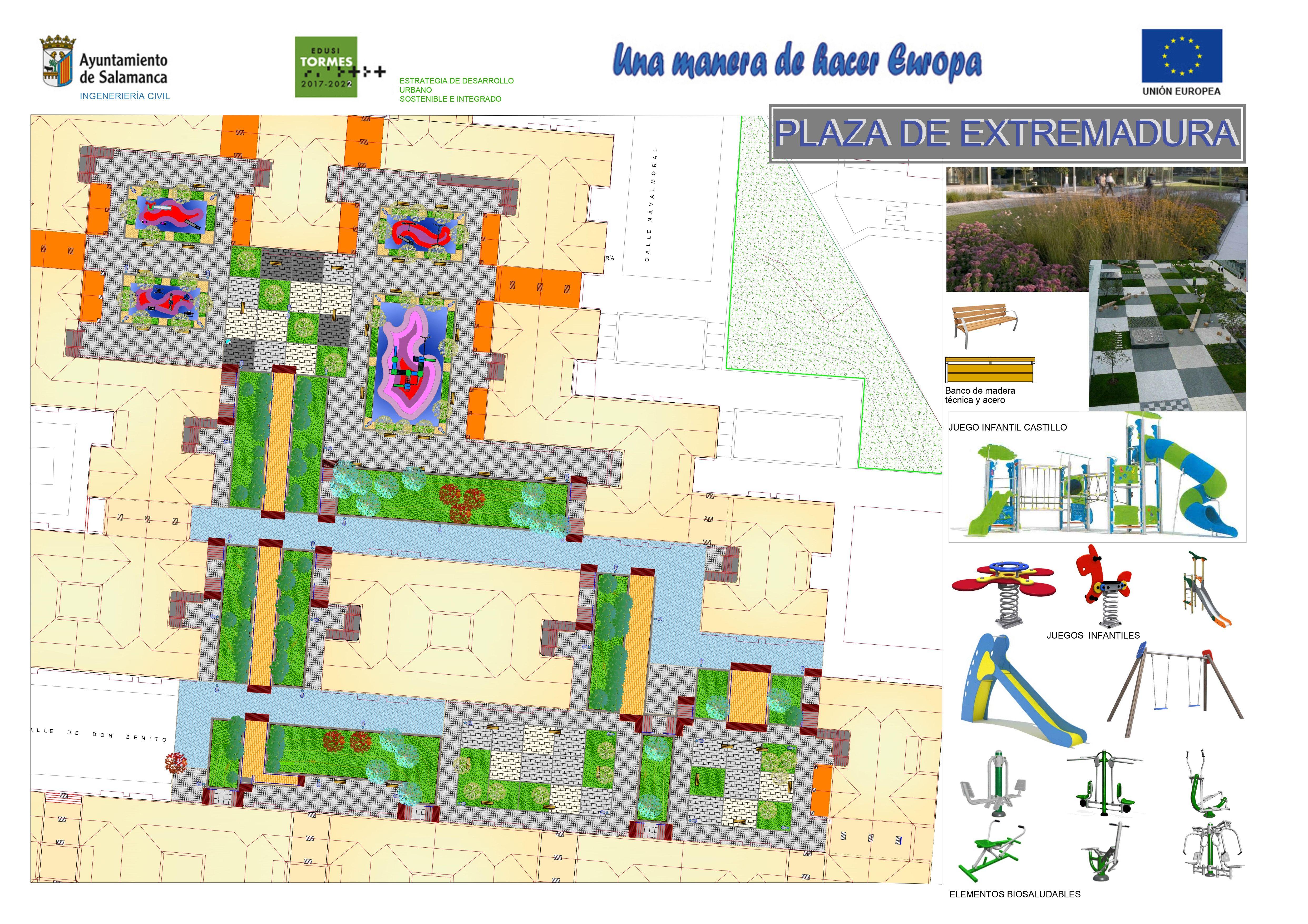 Proyecto plaza de Extremadura