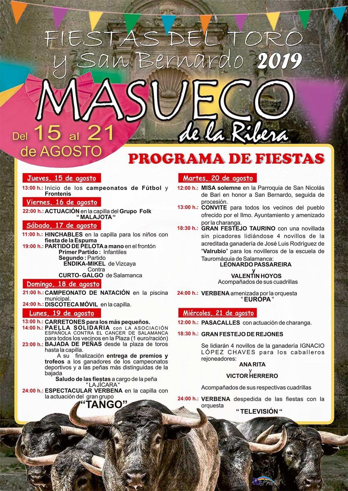 Programa Fiestas Masueco 2019