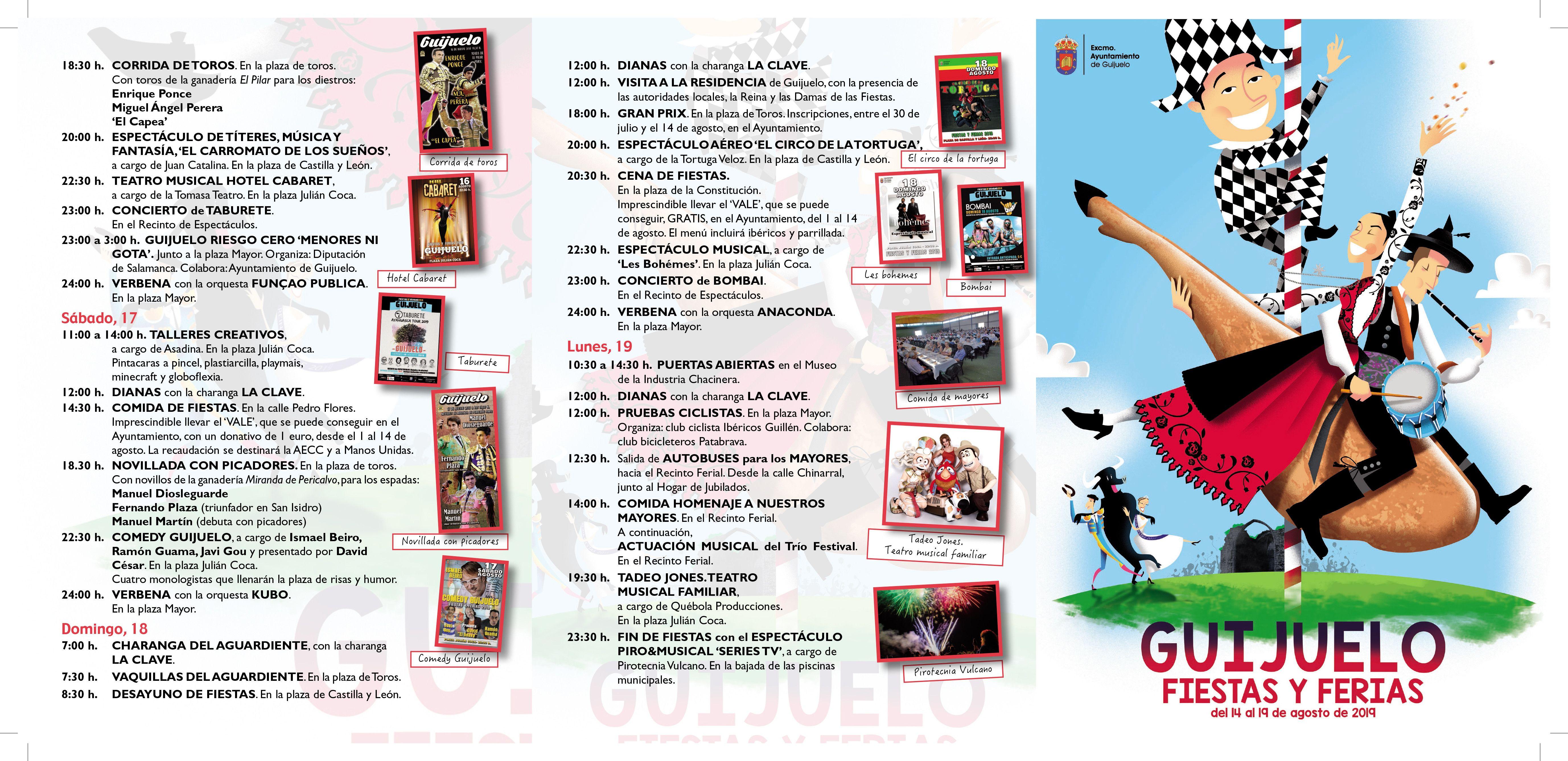 Programa Fiestas Guijuelo 2019 1
