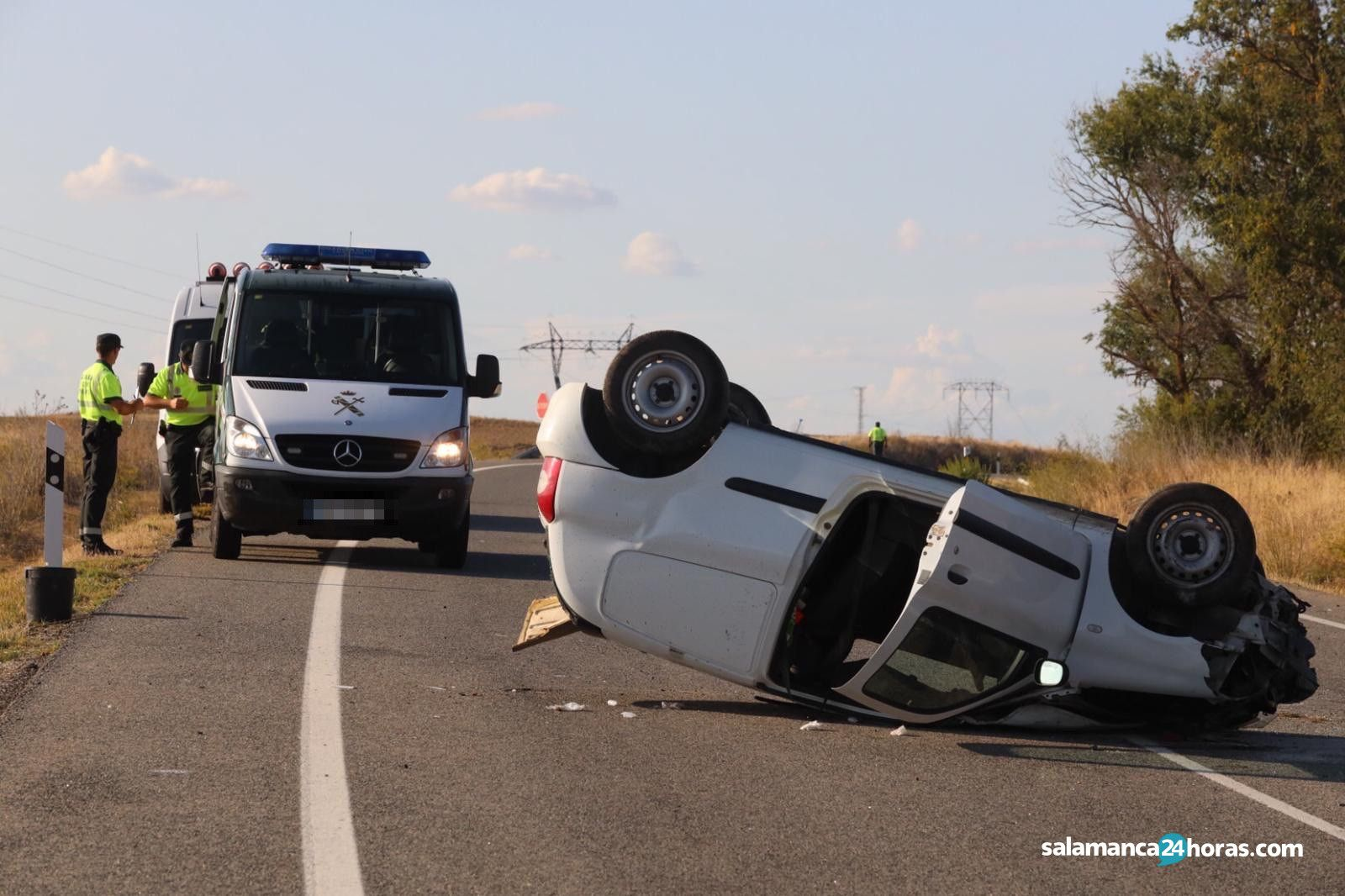 Accidente en carretera de Béjar