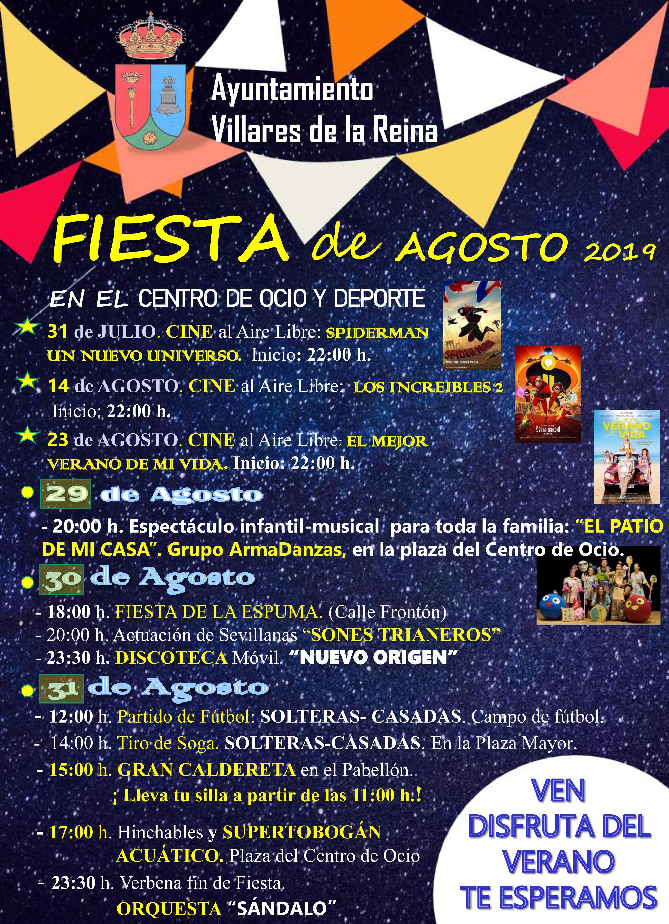 Cartel Fiesta Verano 2019
