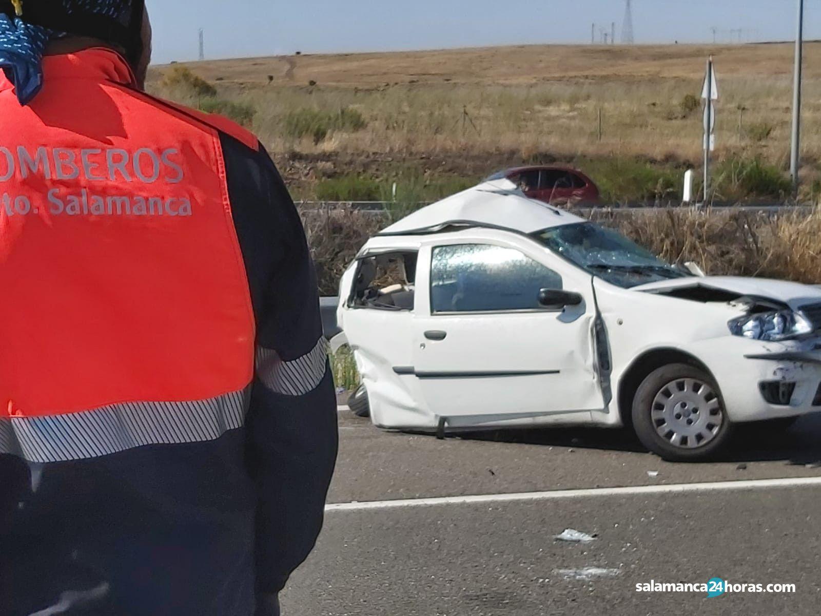 Accidente en la A62