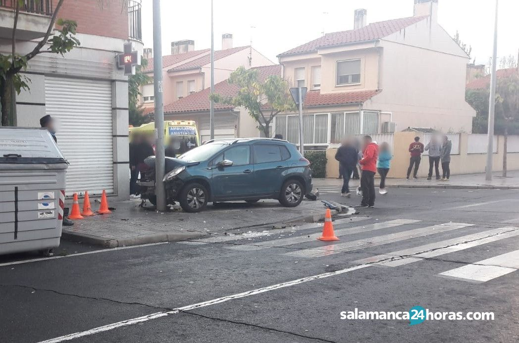 Accidente en la calle Florencio Marcos