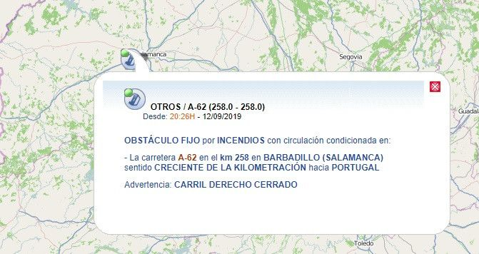 DGT accidente Barbadillo