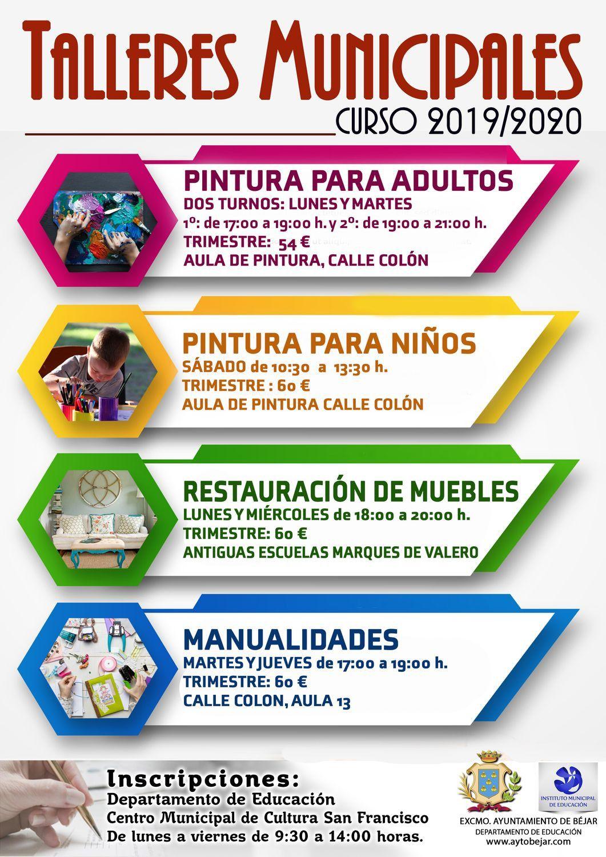 Cartel talleres municipales 2019 20