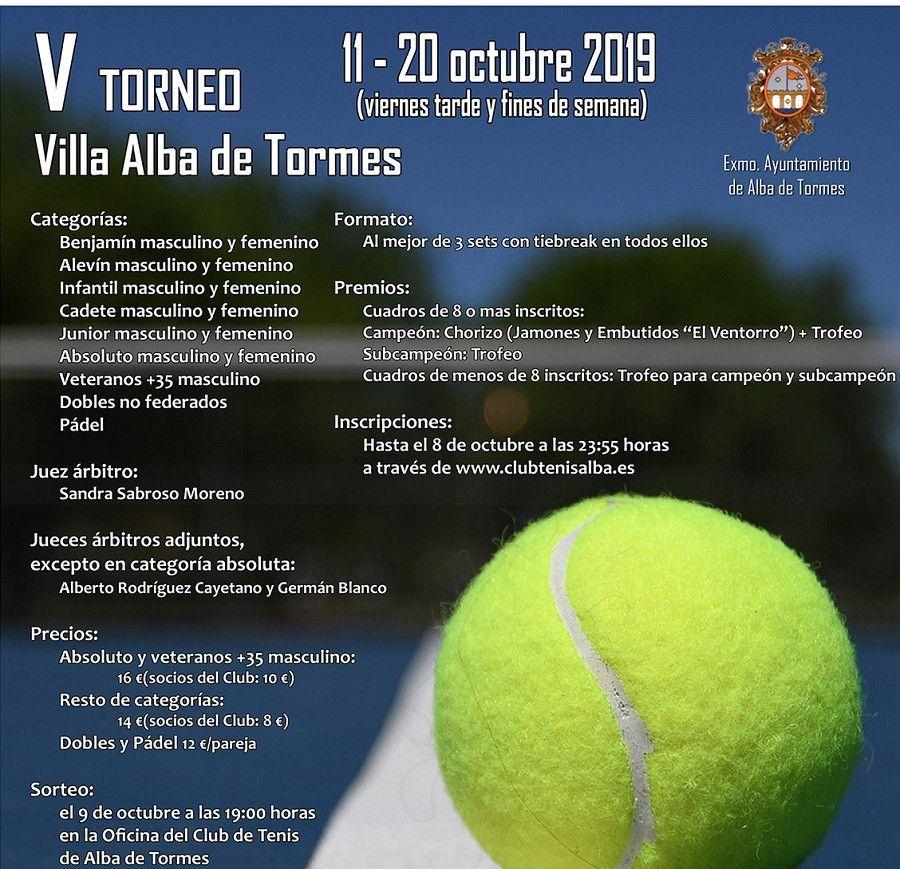 Cartel V Torneo Villa Alba de Tormes