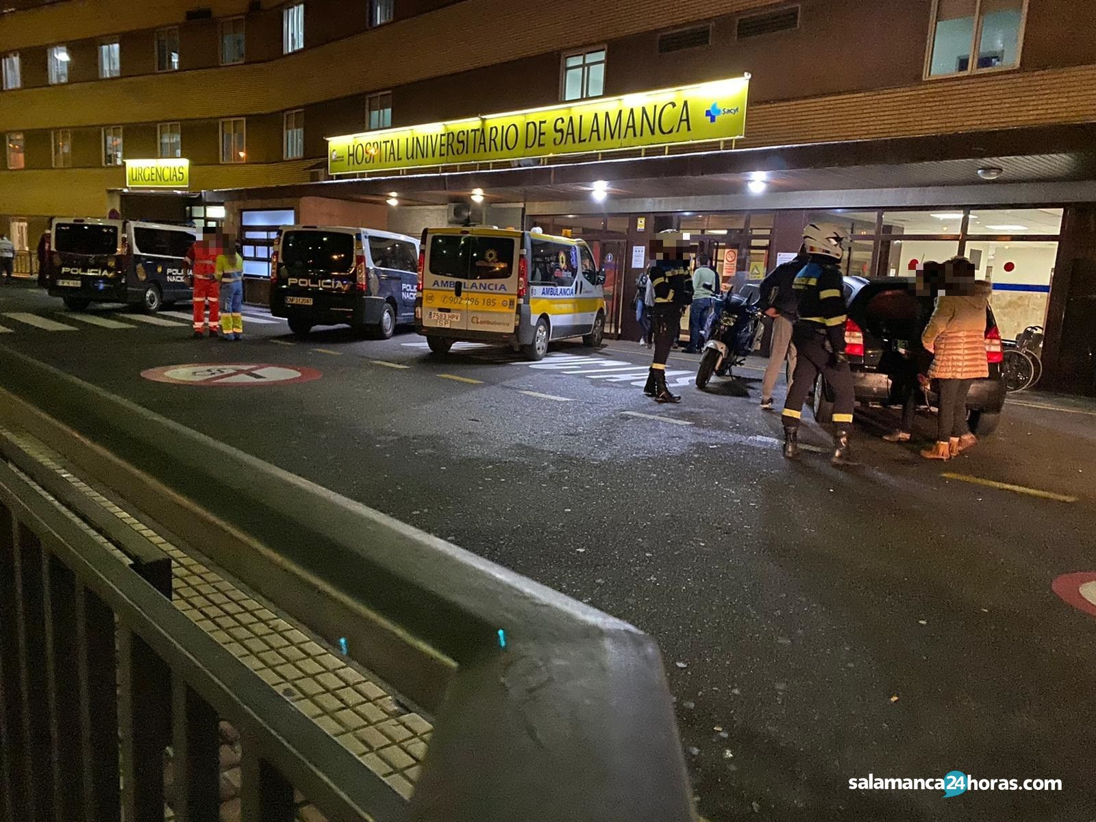 Incidente hospital policía (1)