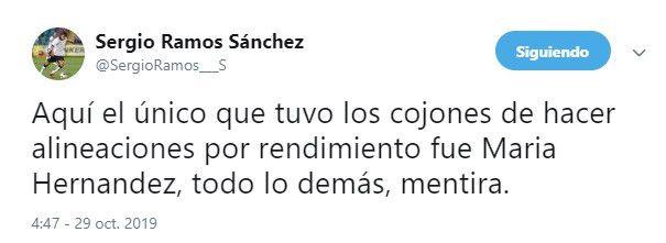 Sergio Ramos Twitter